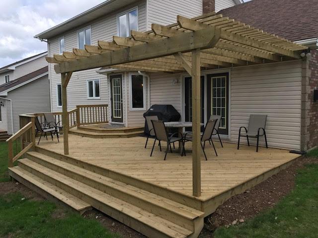 Wooden outdoor patio