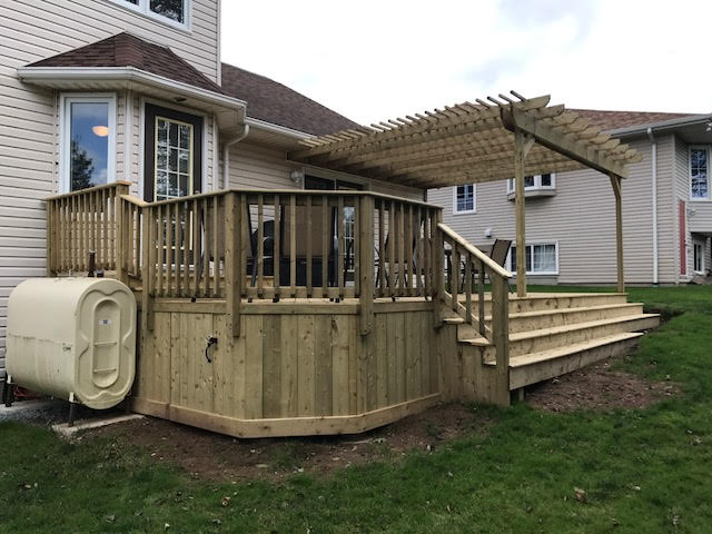 Side view of outdoor patio