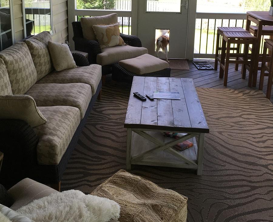 screened porch doggie door