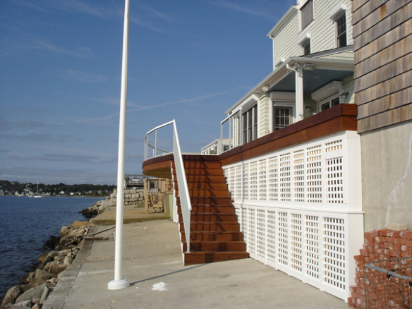 finished deck and stairs