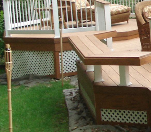 Deck and seating areas