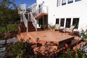 multi level timbertech deck