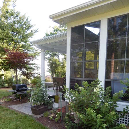 screened porch with Eze Breeze windows