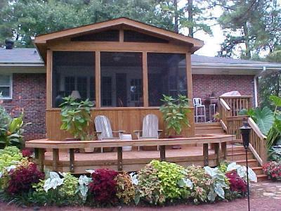 sunroom and patio