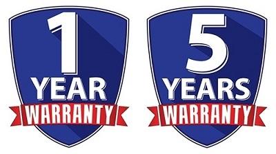 Warranty years