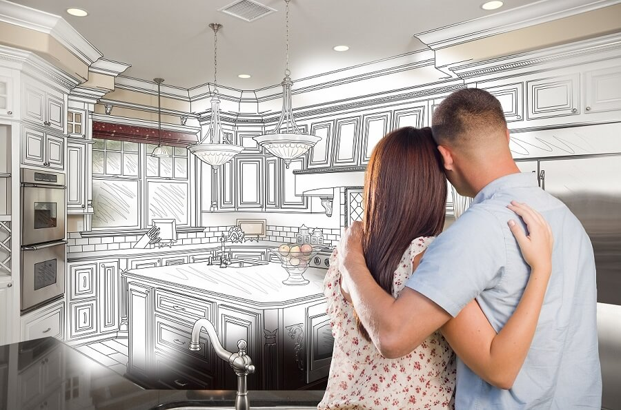 Homeowners imagining new home