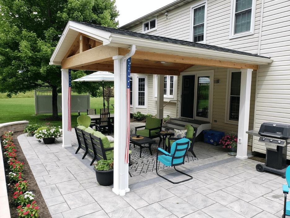 Cozy backyard covered patio