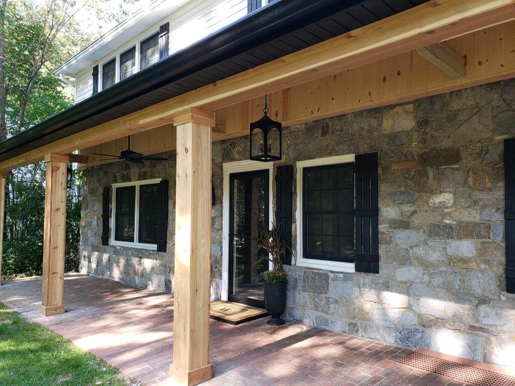 Custom front porch