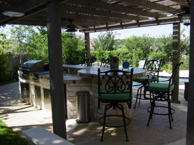 Patio and barbeque