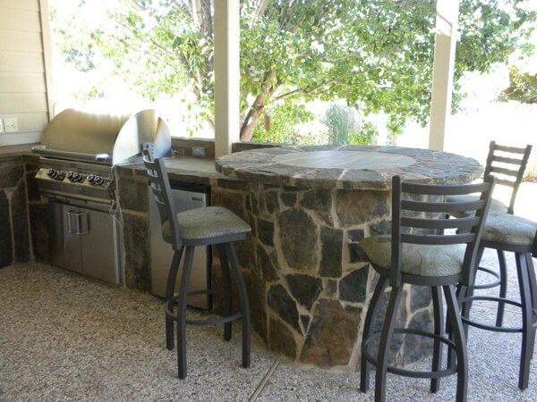 Barbeque and patio seating