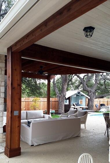 Custom porch cover