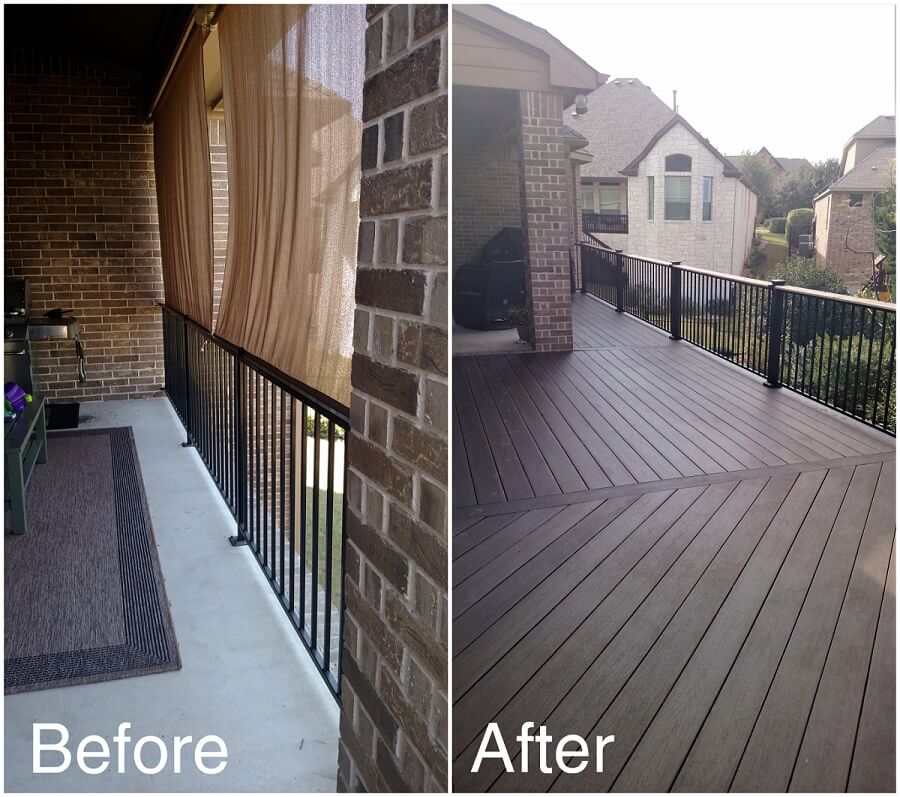 Before and after deck