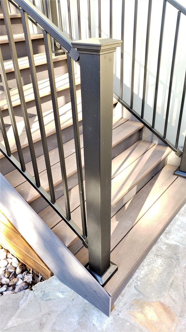 Railing on stairs