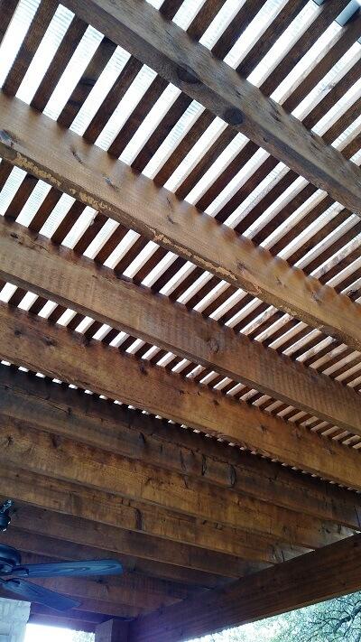 Pergola ceiling
