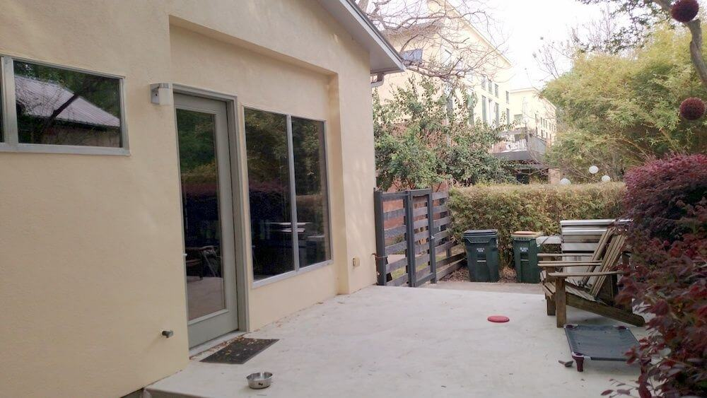 Before image of backyard porch