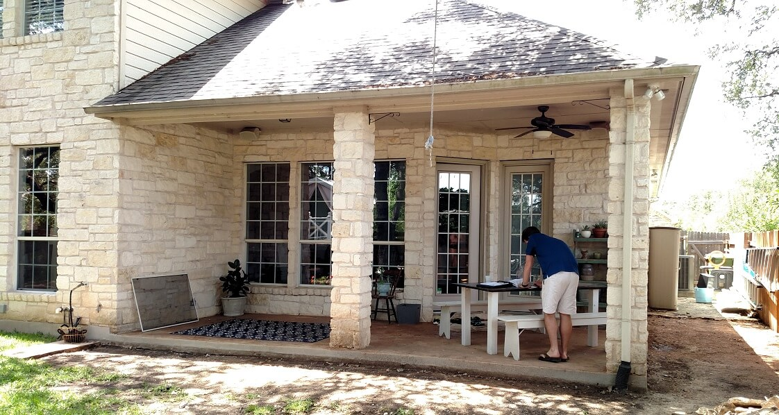 Before image of porch