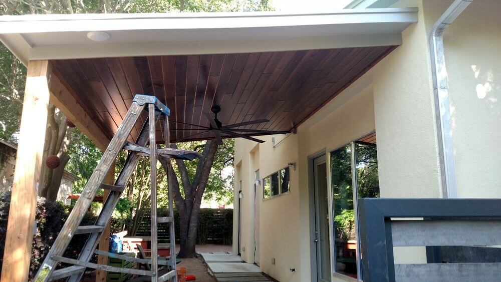Construction of new porch