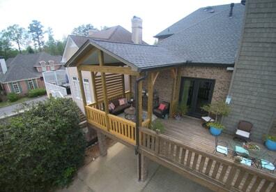 open porch addition in vestavia