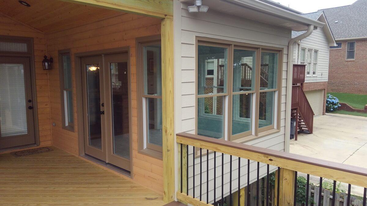 Custom deck, porch and sunroom