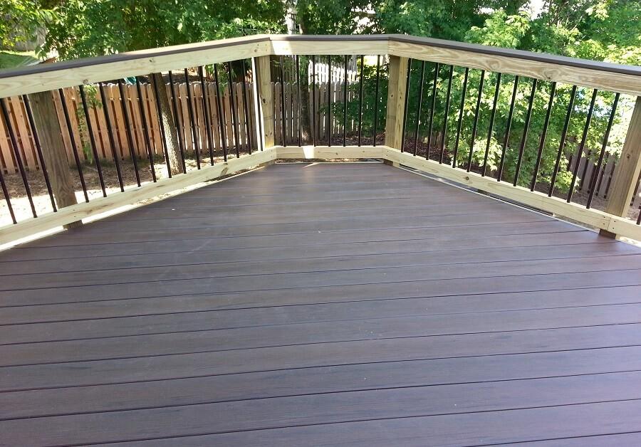 Deck flooring and railing