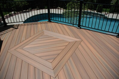 Details of deck design in Cromwell, CT