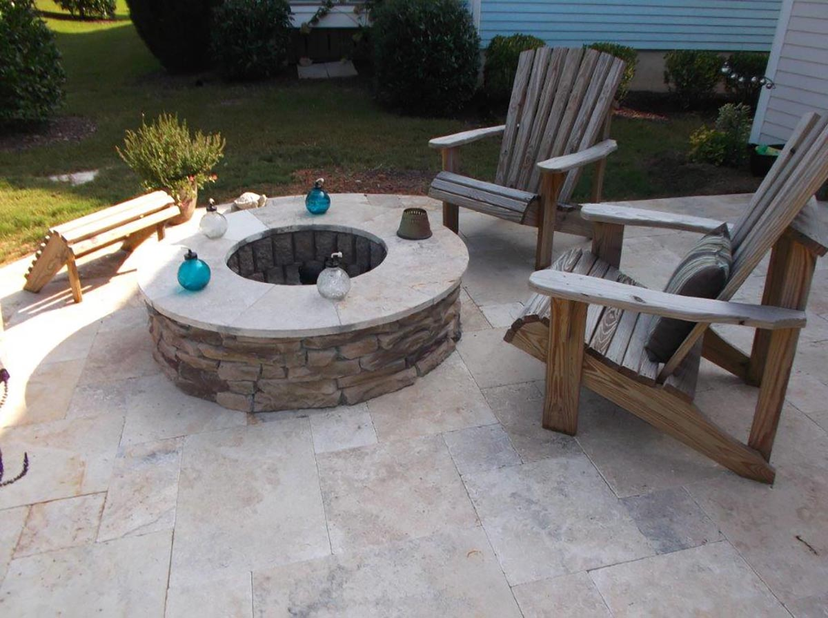 firepit seating outside