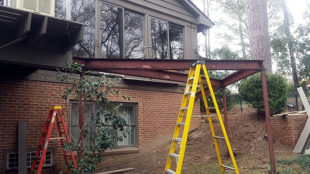 Removal of steel beam