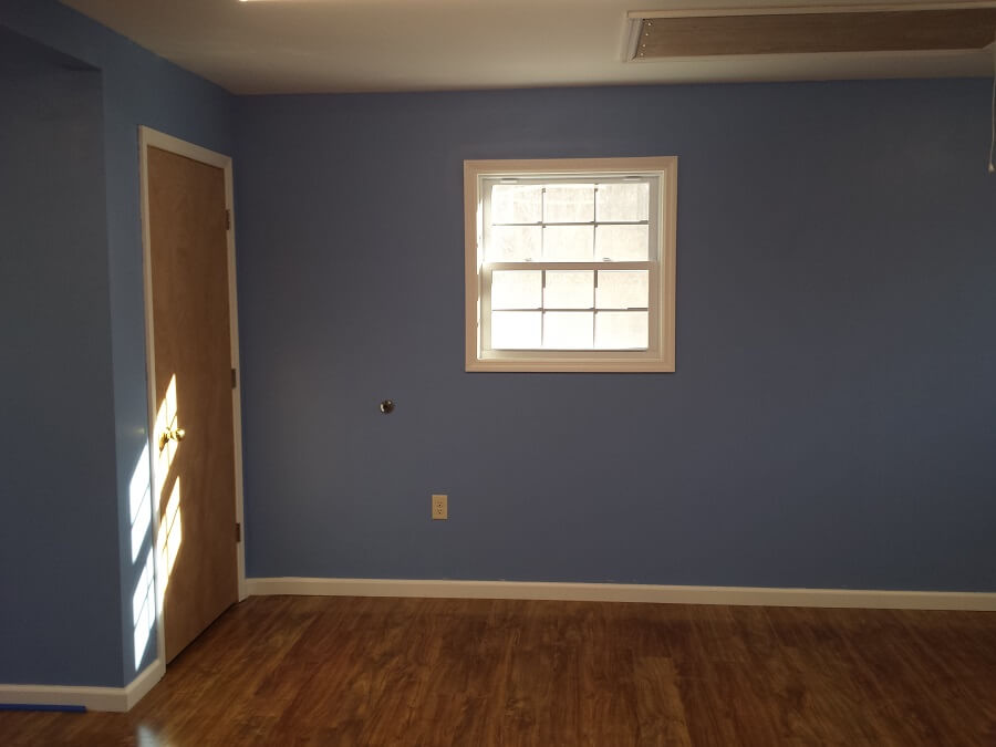 Sewing room above garage