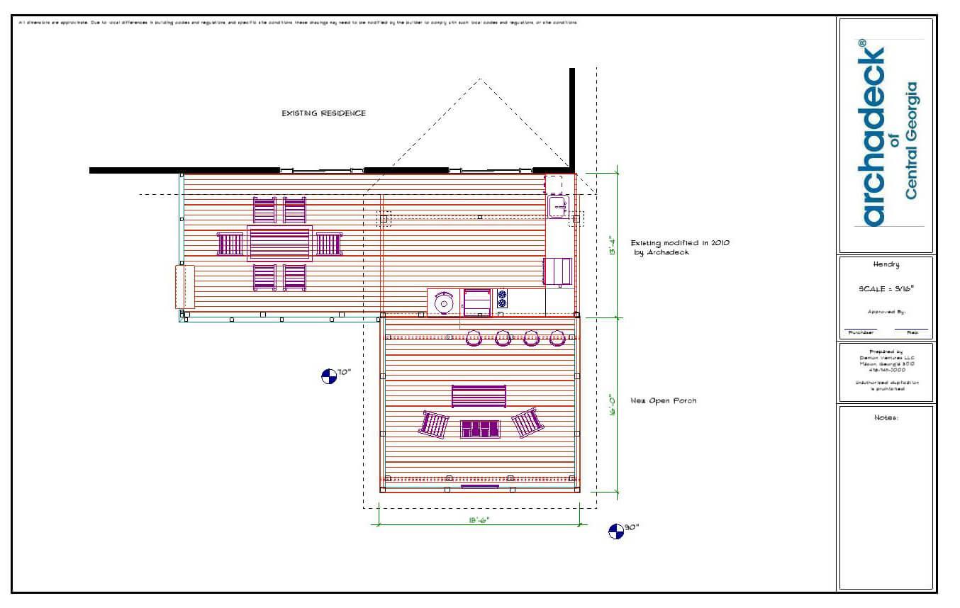 Deck design plan