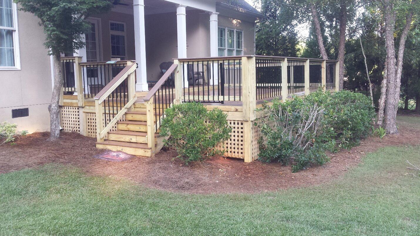 Custom backyard deck