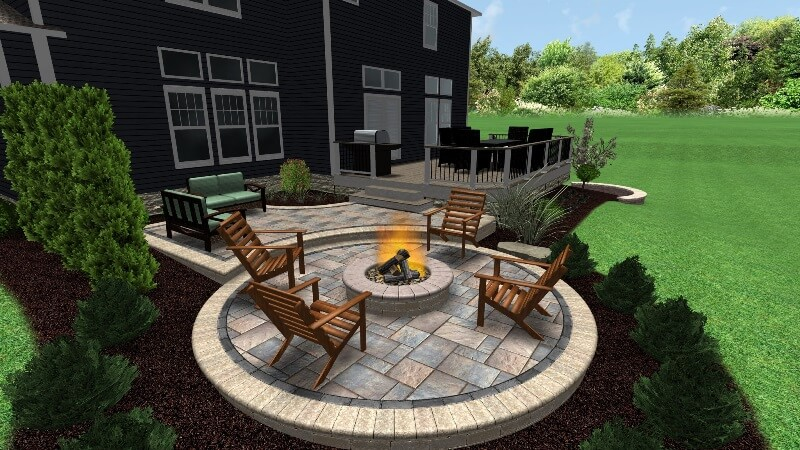 Deck and patio 3D design