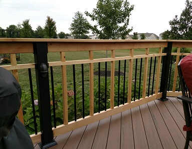 Deck railing and balusters