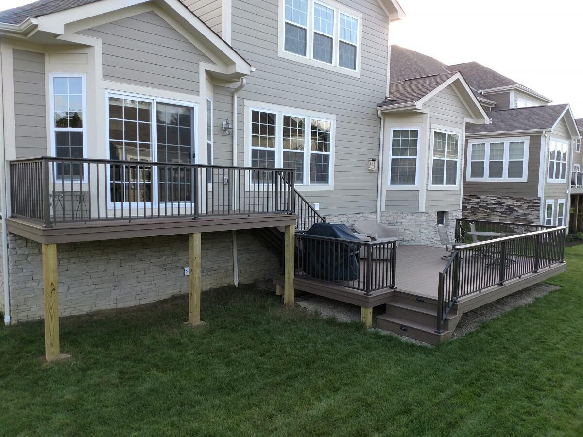 Custom backyard multi-level deck