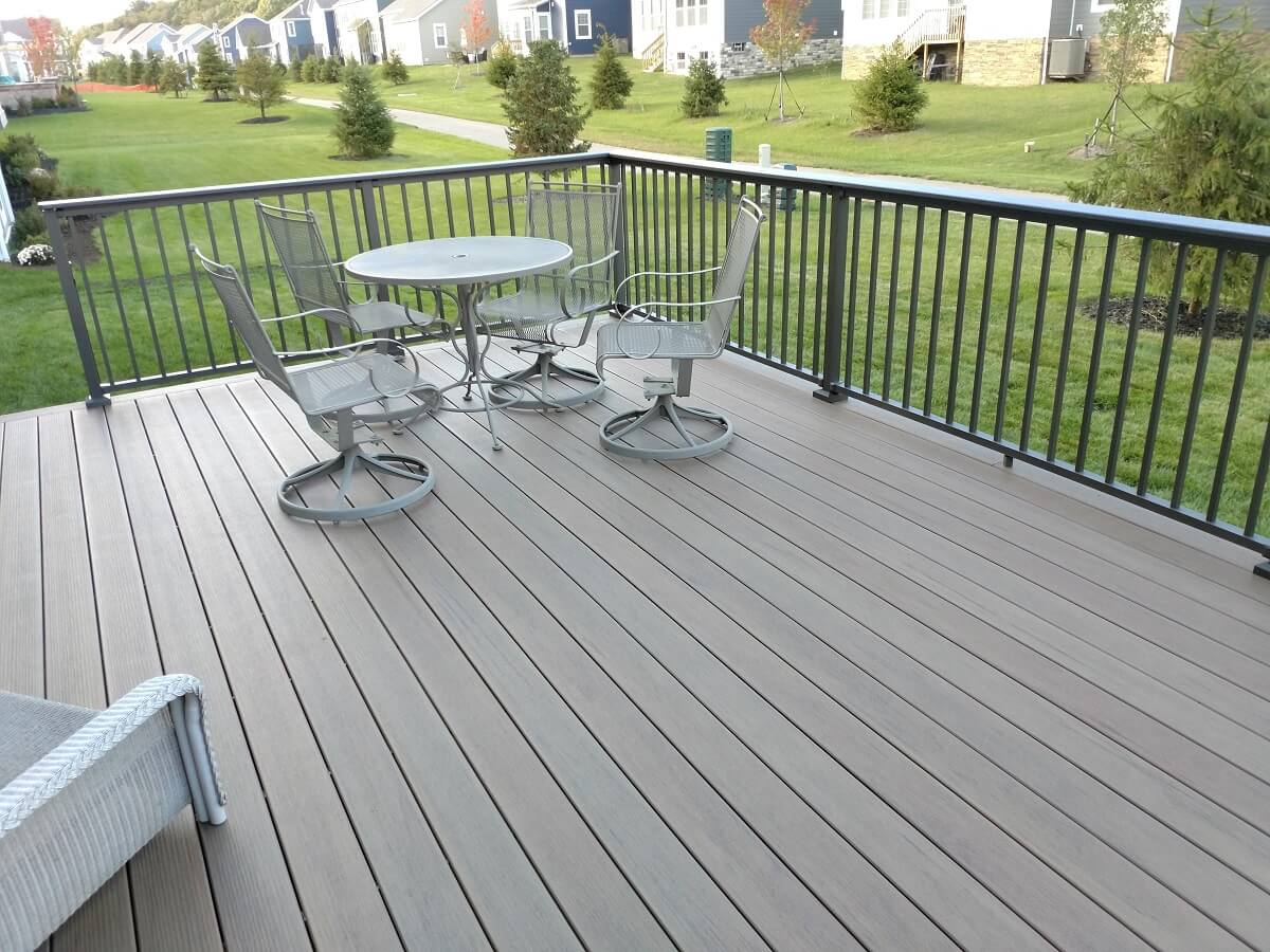 Seating area on deck