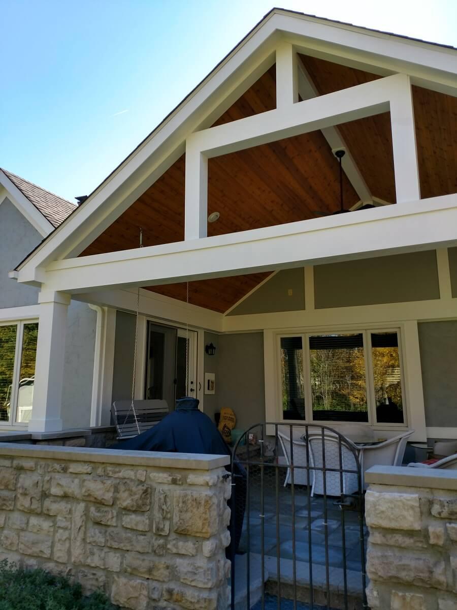 Custom backyard covered patio