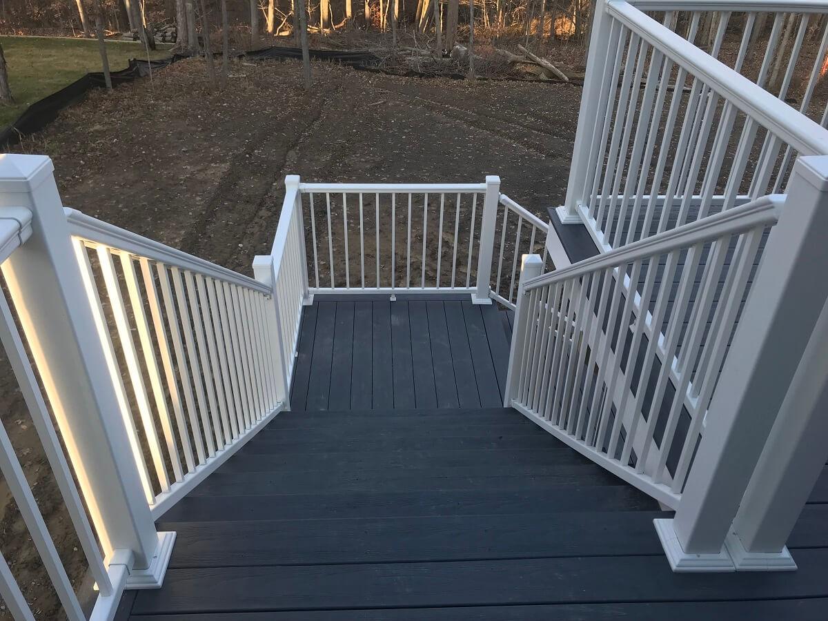Deck staircase detail
