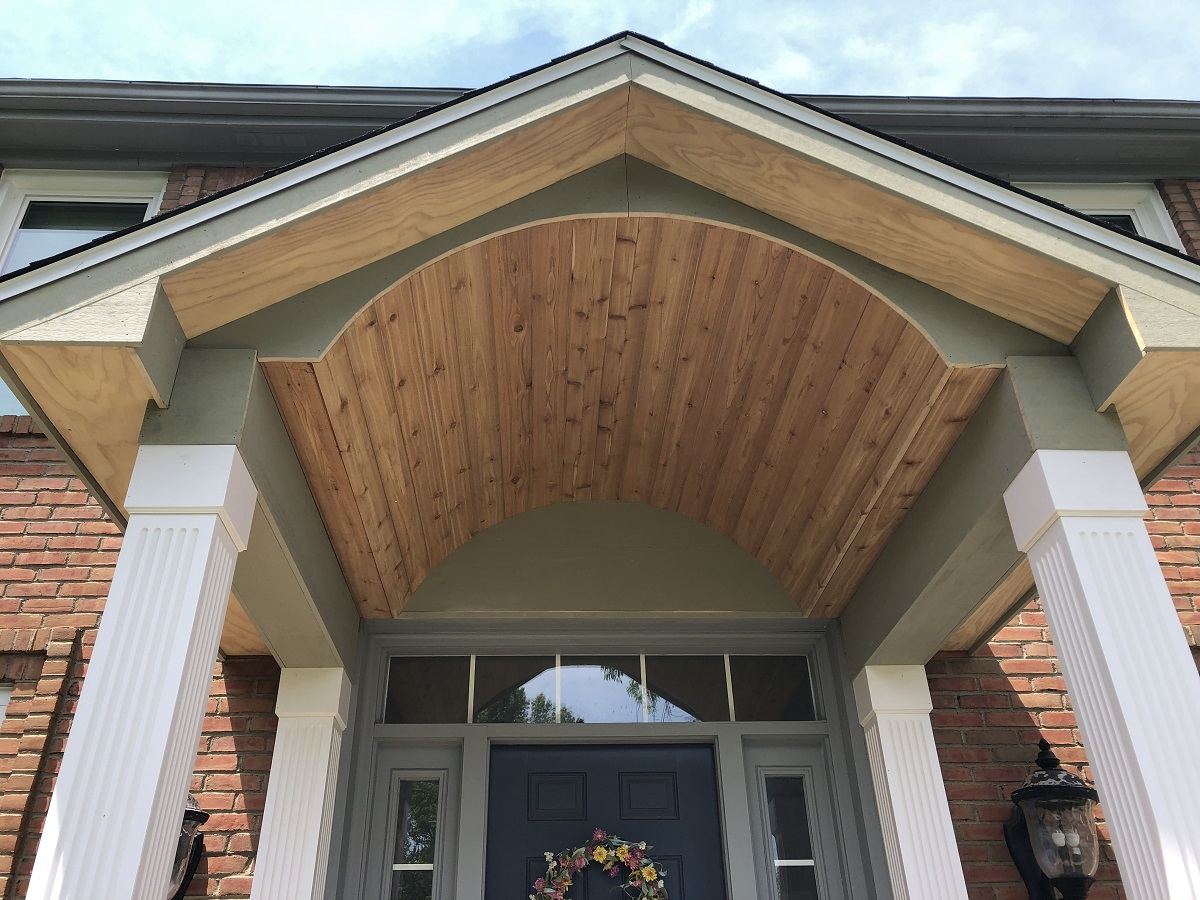 Custom Front Entry Portico Builder Westerville OH.
