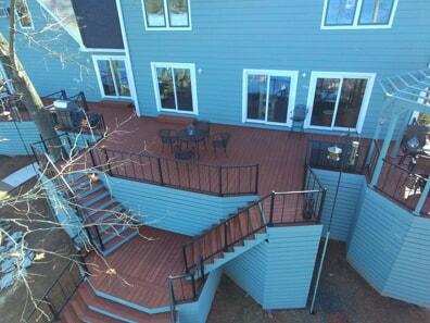 outdoor multi level deck