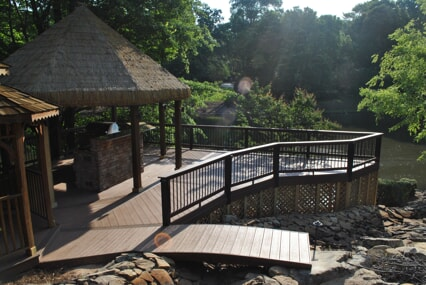 lake chapin outdoor deck with outdoor kitchen