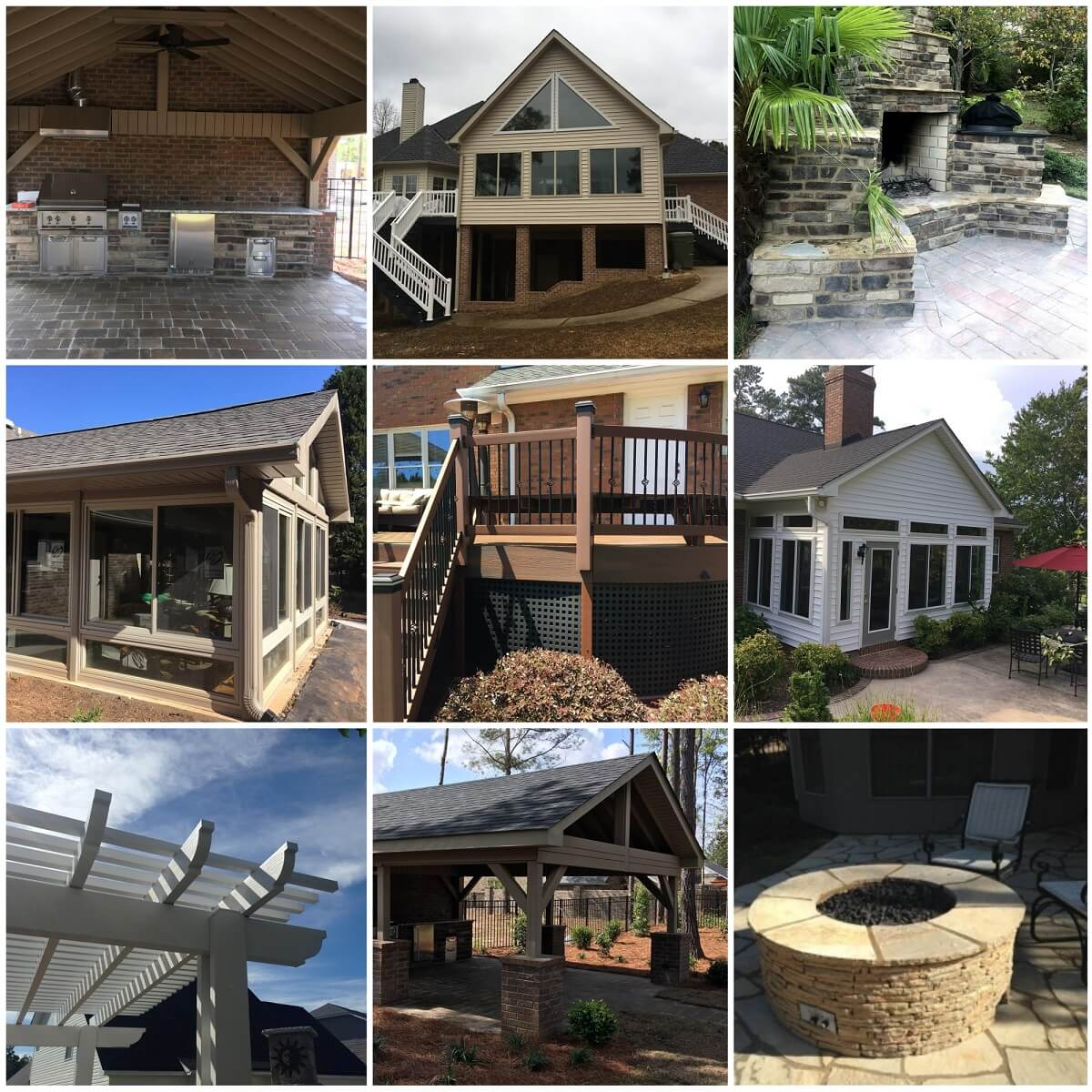Collage of Archadeck projects