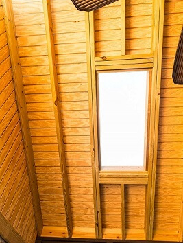 Screened porch with skylight