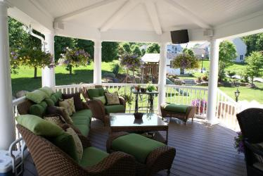 Archadeck covered porch perfect for luxury outdoor living