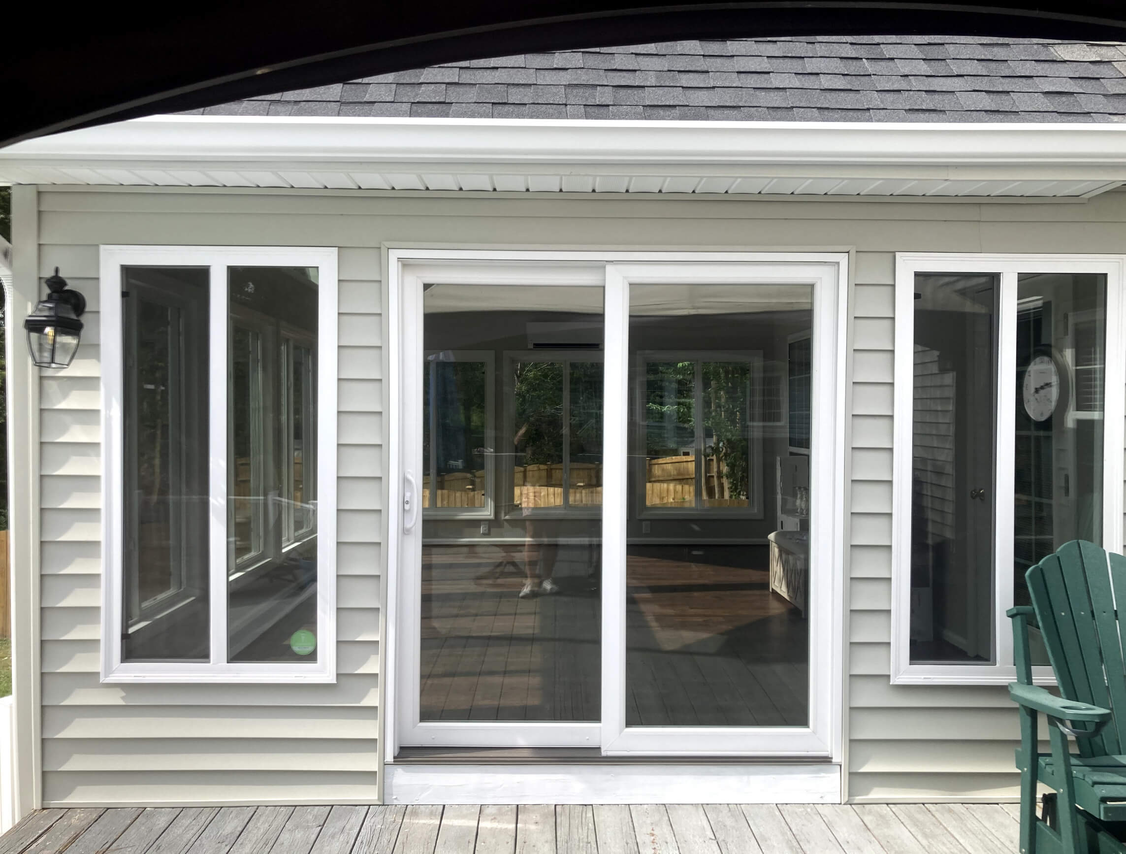 Exterior view of sunroom