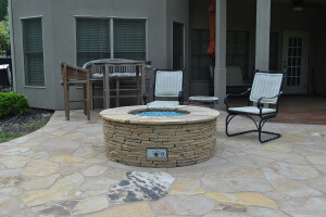 NE Columbia patio and custom fire pit