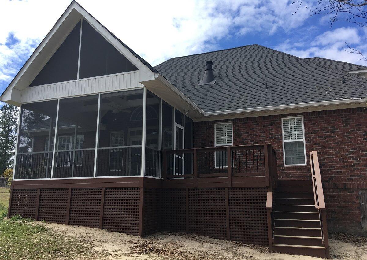 Custom backyard deck and screened porch