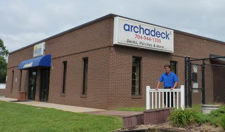 Archadeck showroom in Matthews NC