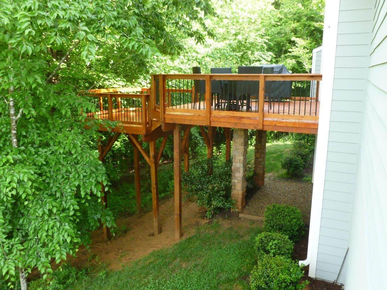 elevated deck