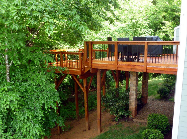 backyard wood deck