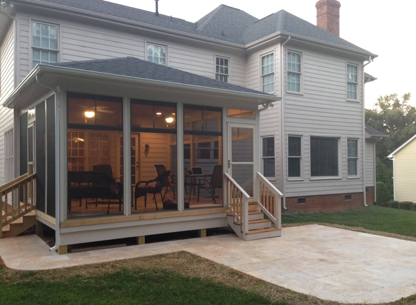 house with screened porch
