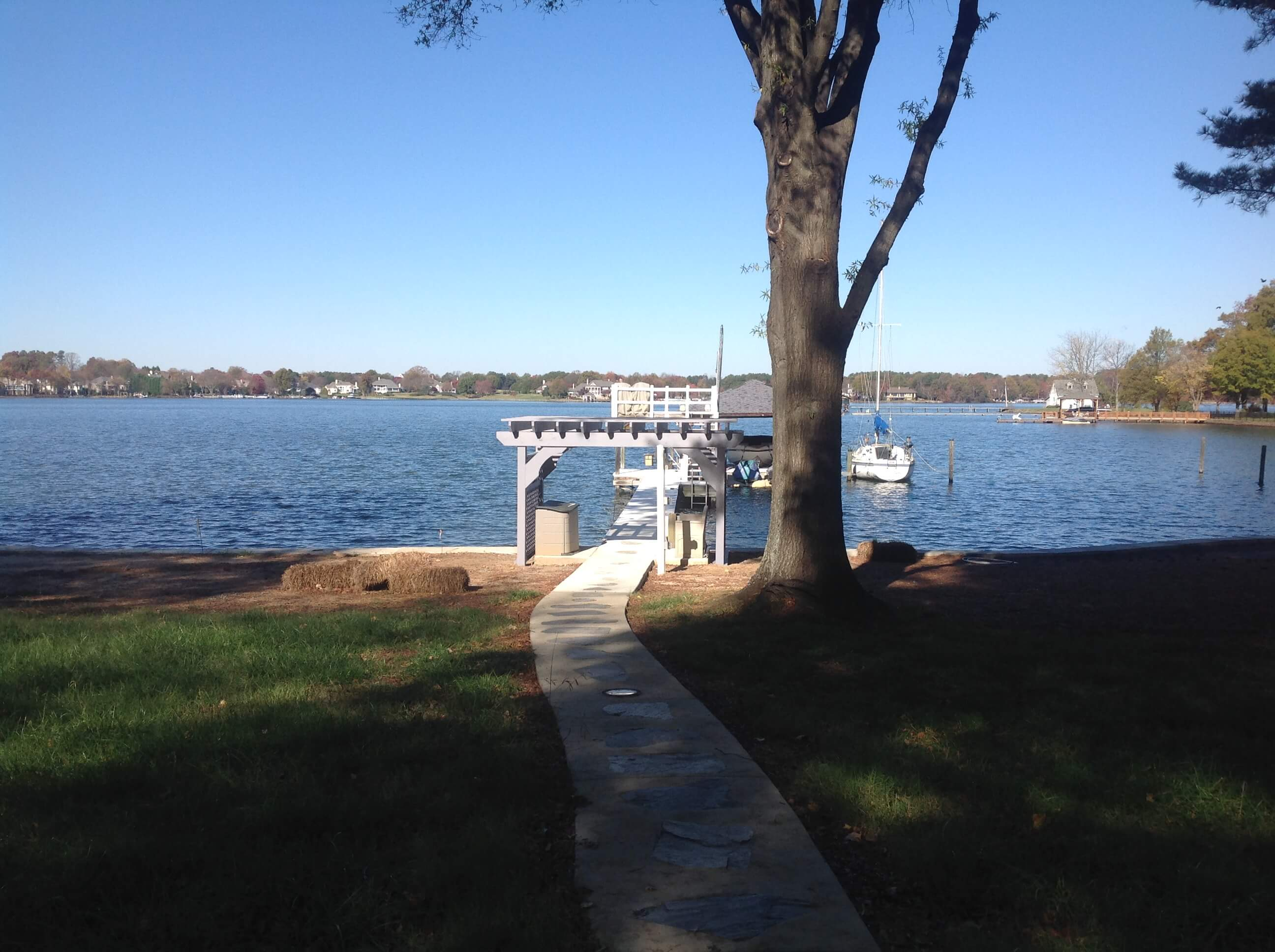 dock with boat
